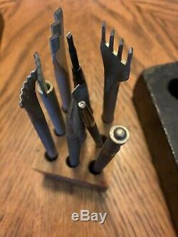 160+ Pieces Leather Crafting Tools & Supplies Punch Stamp Carving