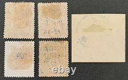 1897 Qing Empire, Collection Lot Of 5 Red Revenue Stamps. Catalogue Value $6100