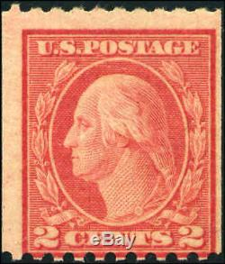1915 US Stamp #449 2c type I Mint Never Hinged Catalog Value $5,500 Certified