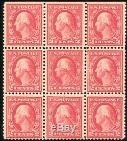 1917 US Stamp #505 5c Perf 11 Mint NH Block of 9 Error Catalogue Value $1000