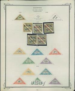 1918-1932 Estonia Mixed Mint Postage Stamp Collection Catalogue Value $1,070