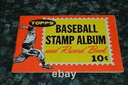 1962 Topps Baseball Stamp Album With Some Stamps! Koufax, Maris. Berra, Etc