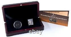 1990 IOM London Mint Office Penny Black Stamp and 24ct Gold Crown Coin Set