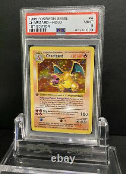 1999 Base Set 1st Shadowless Charizard PSA 9 Mint Grey Stamp Error Holy Grail