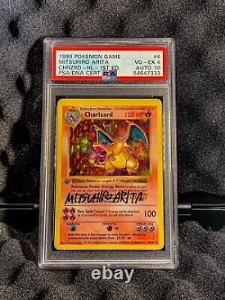 1st Edition Shadowless Charizard Psa 4 Gem Mint Auto Thick Stamp