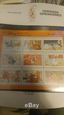 4 Disney World of Postage Stamps Albums High Quality Mint condition Stamps