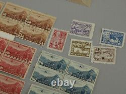 All Mint China Stamp Collection Lot Early Dragons Junks Martyrs Dr. Sun Airmail+