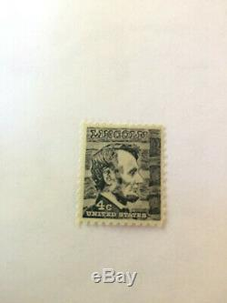 Black Abraham Lincoln 4 Cent Stamp mint NH 11x10 1/2