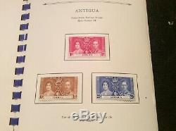 British Empire 1937 Complete Coronation issue in Special Album, VF Mint Hinged