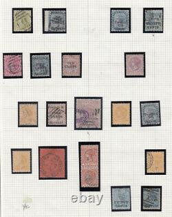 CEYLON 1868-1900 COLLECTION ON PAGES MINT USED many better including nos. 64 68