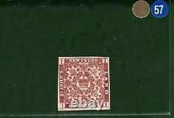 Canada NEWFOUNDLAND QV Stamp SG. 16a 1d Red-brown (1861) Mint LMM c£8,500 GBLUE57