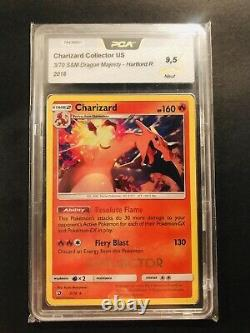 Charizard COLLECTOR stamp! Hartford Regional Dragon Majesty Graded PCA 9,5 MINT