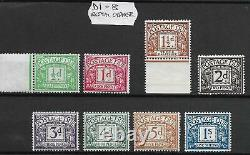 D1 D8 Royal Cypher Postage dues Full Set of 8 UNMOUNTED MINT
