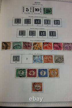 Egypt Early Mint & Used Stamp Collection in Minkus Album