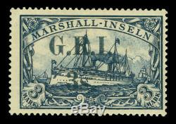 German Colonies -NEW BRITAIN G. R. I. Marshall Is 3sh/3mk Sc# 41 mint MH withcert RR