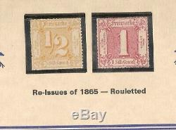 Germany TURN TAXIS Old States 1851/67-Lot of 33 MH re-Issues withbk 1/5000 RARE