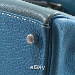 Hermes Kelly 32 Turquoise Ghillies, Stamp R, Mint Condition