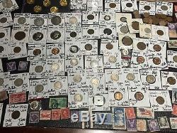 Huge Lot 350+Coin/Stamp1892 & 1893/Buffalo/Indian/SilverWWII/Mercury/WL/proof+