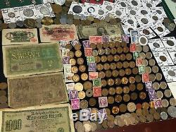 Huge Lot 400Coin/StampSilver Certificate/Mercury/Buffalo/Indian/1893WWII/World