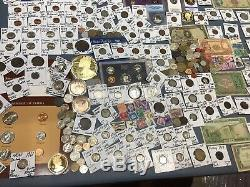 Huge Lot 450+Coin/StampNotes/Mercury/Buffalo/Indian/1893/Barber/WL/Silver+ More
