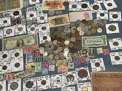Huge Lot 450+Coin/StampSilver Certificate/Mercury/Buffalo/Indian/1893-USA/World