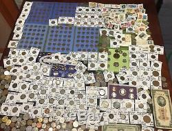 Huge Lot 450+Coin/StampSilver Note/Mercury/Buffalo/Indian/WL/Large Cent/2 Cent+