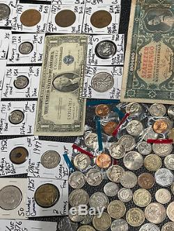 Huge Lot 500+ Coin$/StampSilver Note/Mercury Dimes/IKE/Buffalo/Indian/WL/Proof+