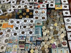 Huge Lot 500+ Coins/StampSilver Note/PCGS/Mercury/IKE/Buffalo/Indian/WL/Proof$+