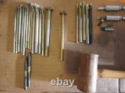 Huge Lot Leather Working Stamps, Dies, Cutters (48) Craftools & Others & Acc's