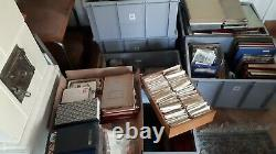Huge Stamp Collection US Intl 100ts stamps ca 500 Album lot of boxes full CV$