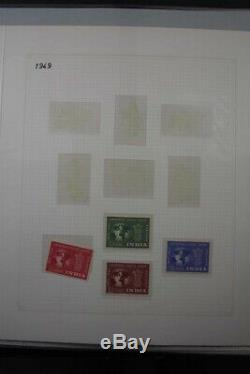 INDIA Commonwealth 1947-70's Ghandi Set Mint + Used Stamp Collection