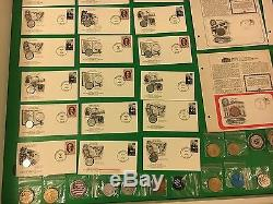 LARGE LOT OF US COINS, CASINO TOKENS, FIRST DAY ISSUE COIN WithSTAMP & MUCH MORE