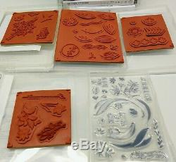 LOT OF 30 Stampin Up Stamp Sets Floral Flowers Butterflies Spring Summer Blooms