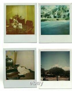 LOT OF 4 Andy Warhol Polaroid estate stamp signed Keith Haring Roy Lichtenstein
