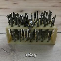 Leatherwork Tools Lot of 26 Craftool Stamps, 2 Swivel Knives, 2 Stitch Punches