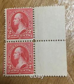 Lot Of 2 U. S. A. Stamp 2 Cent George Washington Pink Triangle Issued