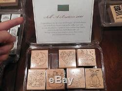 Lot Of Nine STAMPIN UP! Stamp Sets 130 Individual VERY RARE & Retired 1991-2006