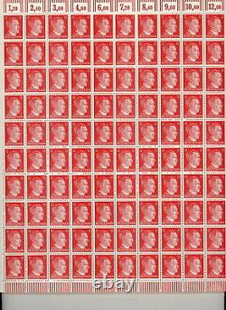 Lot Stamp Germany 10 Sheet 1941 WWII Third Reich Hitler Selection MNH F