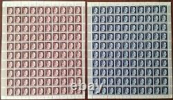 Lot Stamp Germany 16 Sheet 1941 WWII 3rd Reich Hitler Adolf Selection MNH Faults