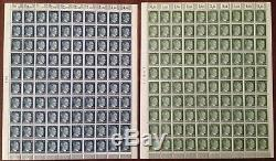Lot Stamp Germany 19 Sheet 1941 WWII Fascism War Era Hitler Complete Set MNH