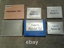 Lot of 6 Ivan & Craftool Leather Stamp Sets 1/4, 1/2 and 3/4 In