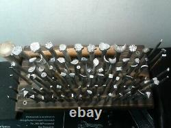 Lot of 89 Craftool USA Leather Stamp Tools Punches + Storage Block & Mallet
