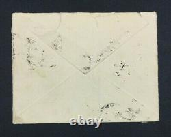 MOMEN INDIA SG #221-221a PAIR Q FOR O IN POSTAGE ON 1935 COVER LOT #61046