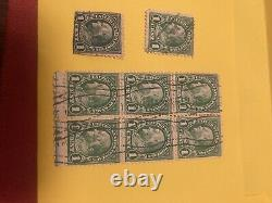Modern Postage Stamp Album, copyright 1946, with Lot of Rare Stamps