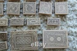 Outlines Rubber Stamp Holiday Christmas Collection LOT of 26 Assorted Design NEW