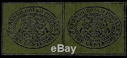 Papal Roman States, 3 Cent, Grey Paper, Year 1867, Mint, Set Of 2