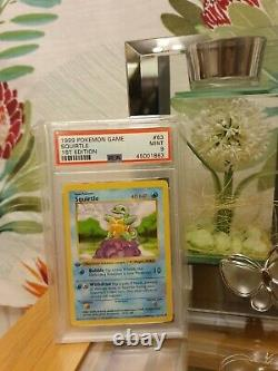 Pokemon PSA 9 1st Edition Shadowless Squirtle 63/102 Mint base set THICK STAMP