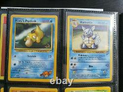 Pokemon WOTC W Stamp Promo Complete Set Near Mint All 7 Cards