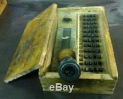 Post Office Royal Mail GPO Date Stamp Hand Stamper & Box Die Nottingham Lot B