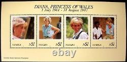 Princess Diana Complete Crown Agents Stamp Collection 32 Countries 1997 Mint Nh
